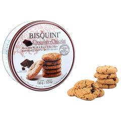 """Печенье Датское BISQUINI (Бисквини) """"Milk and Chocolate"""", сдобное с кусочками шоколада, в железной банке, 150 г"""