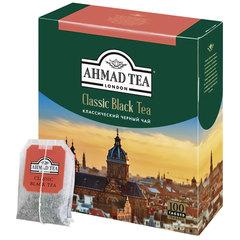 """Чай AHMAD (Ахмад) """"Classic Black Tea"""", черный, 100 пакетиков с ярлычками по 2 г"""