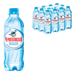 """Вода негазированная минеральная """"ЧЕРНОГОЛОВСКАЯ"""", 0,33 л, пластиковая бутылка"""