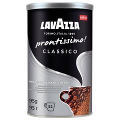 """Кофе молотый в растворимом LAVAZZA (Лавацца) """"Prontissimo Classico"""", сублимированный, 95 г, жестяная банка"""