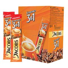 """Кофе растворимый JACOBS (Якобс) """"3 в 1 Классик"""", 12 г, пакетик"""