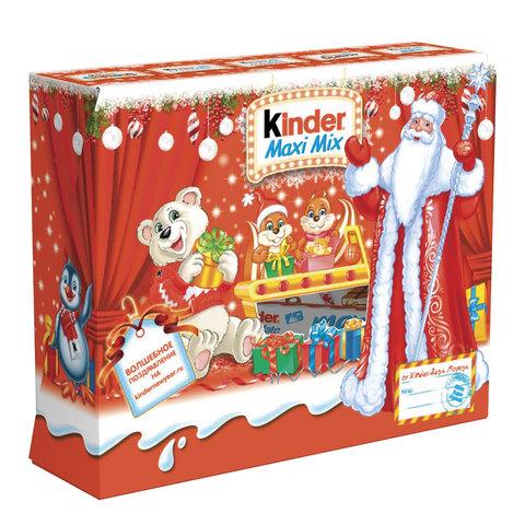 "Подарок новогодний KINDER (Киндер) ""Посылка"", 223 г, картонная коробка"