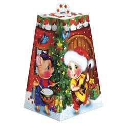 """Подарок новогодний """"Домик поросят"""", 800 г, набор конфет и пр., ассорти, картонная коробка"""