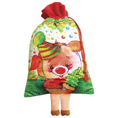 """Подарок новогодний """"Свинкина радость"""", 650 г, набор из конфет и пр., ассорти, мягкая игрушка"""