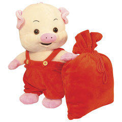 """Подарок новогодний """"Пигги"""", 800 г, набор из конфет и пр., ассорти, мягкая игрушка"""