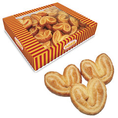 "Печенье СЕМЕЙКА ОЗБИ ""Мини-плюшки"", ушки с сахаром, 500 г, гофрокороб"