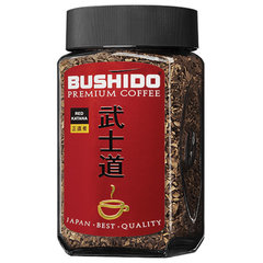"""Кофе растворимый BUSHIDO """"Red Katana"""", сублимированный, 100 г, 100% арабика, стеклянная банка"""