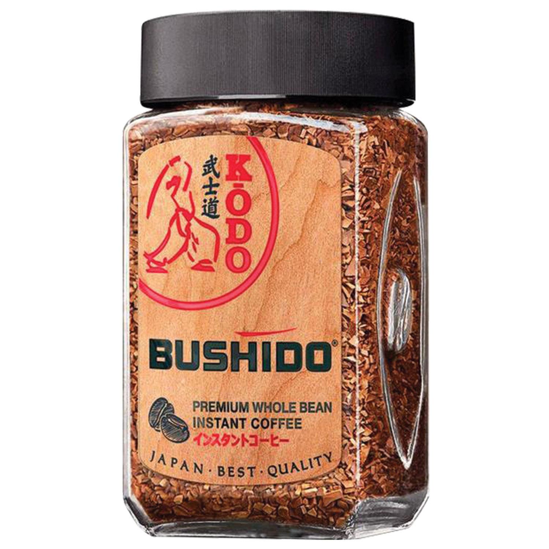 """Кофе молотый в растворимом BUSHIDO """"Kodo"""", сублимированный, 95 г, 100% арабика, стеклянная банка"""