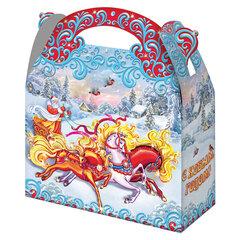 """Подарок новогодний """"Тройка"""", 1500 г, НАБОР конфет, картонная упаковка"""