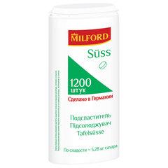 """Заменитель сахара MILFORD """"Suss"""" 1200 таблеток, пластиковая баночка с дозатором"""
