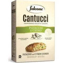 """Печенье сахарное FALCONE """"Cantucci"""" с фисташками и цедрой лимона, 180 г, картонная упаковка"""