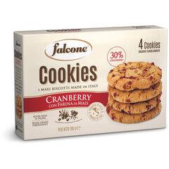 """Печенье сахарное FALCONE """"Cookies"""" с клюквой и кукурузной мукой, 200 г, картонная упаковка"""