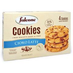 """Печенье сахарное FALCONE """"Cookies"""" с молочным шоколадом, 200 г, картонная упаковка"""