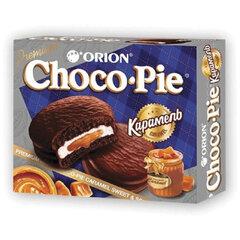"""Печенье ORION """"Choco Pie Dark Caramel"""" темный шоколад, карамельное, 360 г (12 штук х 30 г)"""