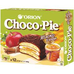 """Печенье ORION """"Choco Pie Apple-Cinnamon"""" яблоко корица 360 г (12 штук х 30 г)"""