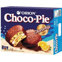 """Печенье ORION """"Choco Pie Chocochip"""" c апельсином и кусочками шоколада, 360 г (12 штук х 30 г)"""