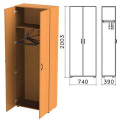 """Шкаф для одежды """"Фея"""", 740х390х2000 мм, цвет орех милан, ШФ17.5"""