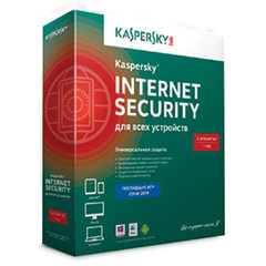 """Антивирус KASPERSKY """"Internet Security"""", лицензия на 3 устройства, 1 год, бокс"""