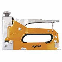 Степлер мебельный SPARTA, стальной, регулируемый, тип скобы: 53, 4-14 мм, комплект 200 скоб, 42002