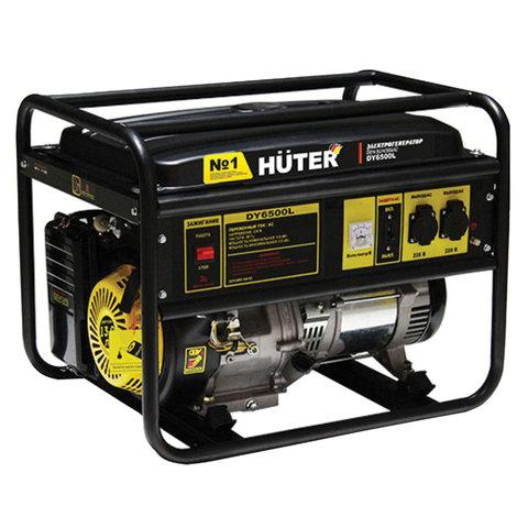 Электрогенератор Huter DY6500L, бензиновый, мощность 5,5 кВт, напряжение 220 В, ручной стартер
