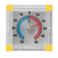 Термометр оконный биметаллический, крепление на липучку, диапазон от -50 до +50°C, ПТЗ, ТББ