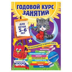 Годовой курс занятий. Для детей 5-6 лет (с наклейками). Зарапин В.Г.