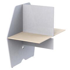 """Модуль стола двустороннего """"Call-центр"""", 818х1320х1418 мм, цвет серый/дуб шамони (КОМПЛЕКТ)"""