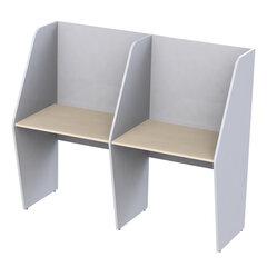 """Стол односторонний, 2 места, """"Call-центр"""", 1654х670х1418 мм, цвет серый/дуб шамони"""