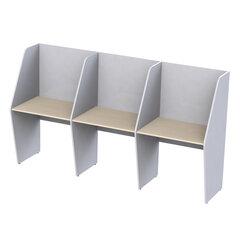 """Стол односторонний, 3 места, """"Call-центр"""", 2472х670х1418 мм, цвет серый/дуб шамони"""